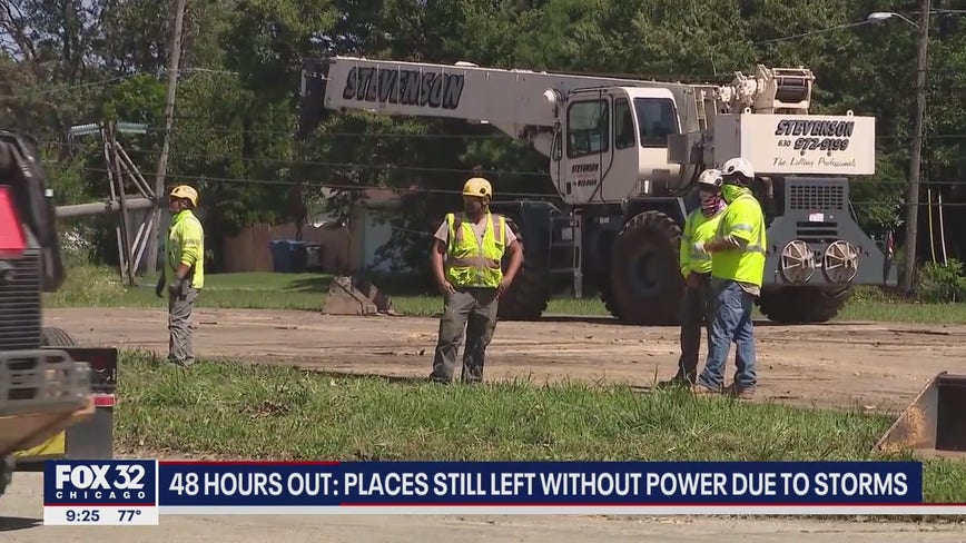 'It's a devastation'; Thousands still without power 48 hours after severe weather