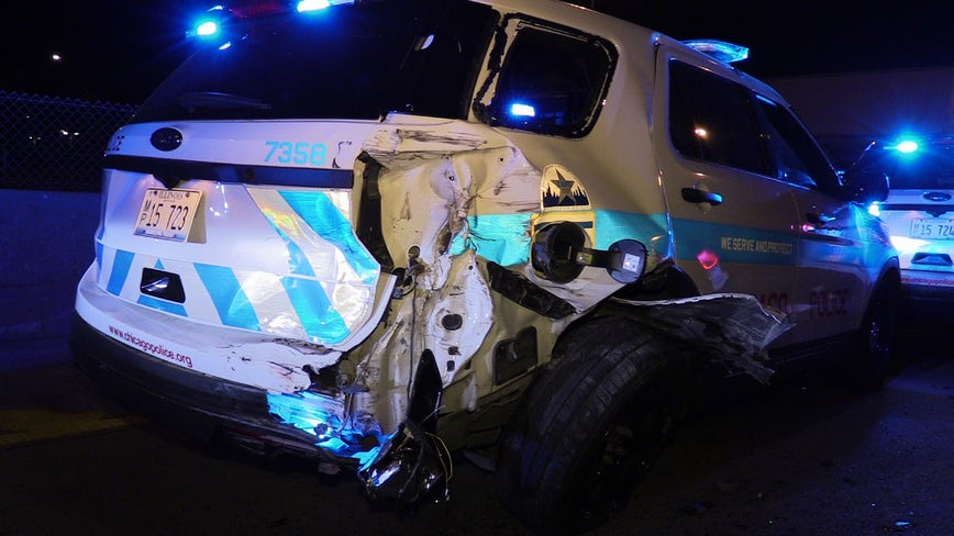 2 CPD squad cars struck by drunk driver on I-94 near Chatham