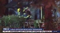 Lisle police officer rushes into burning home to save trapped boy