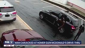 Man carjacked at gunpoint while waiting for food at Homer Glen McDonald's drive-thru