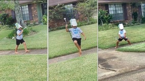 Baton-twirling 8-year-old starts practice early to become college drum major