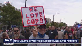 Police supporters met with opposition at rally in Jefferson Park