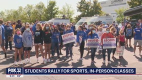 Suburban students, parents rally for in-person classes and high school sports
