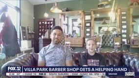Villa Park barber shop gets a lift through teen's generosity