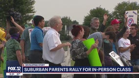 Suburban parents, students call for the return of in-person learning