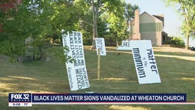 Church sign burned, Black Lives Matter signs vandalized in Wheaton