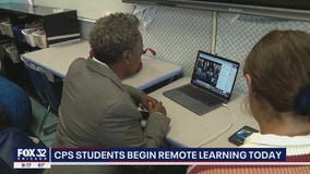 CPS students begin school year remotely as Lightfoot surprises Zoom class