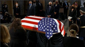 With 'profound sorrow': Supreme Court Justice Ruth Bader Ginsburg lies in state at US Capitol
