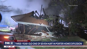 3-year-old, 6 others hurt following house explosion in Northwest Indiana
