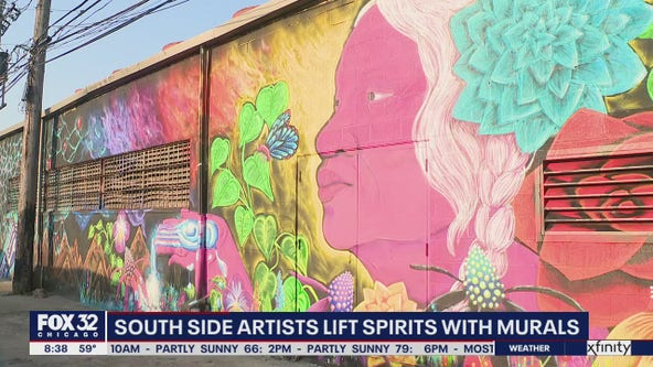 Artists team up to lift spirits with vibrant murals on the South Side