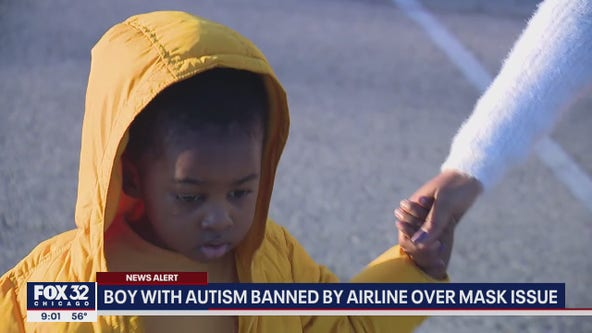 3-year-old with autism banned from airline over not wearing mask, Chicago family says