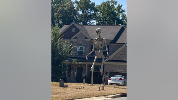 Home Depot selling giant Halloween skeleton: 'I love him'