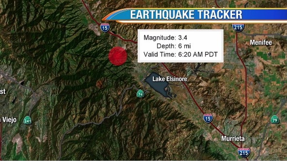 Preliminary 3.4-magnitude quake strikes near Lake Elsinore