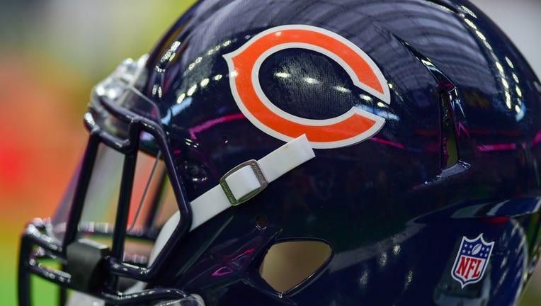Image of a Chicago Bears helmet.