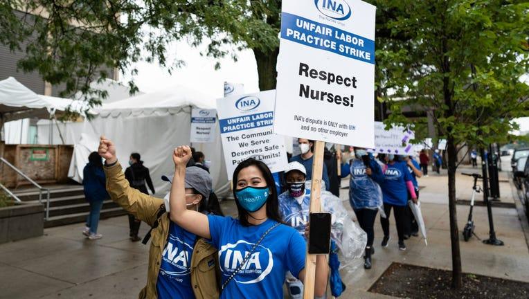 University of Illinois Hospital nurses strike