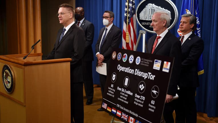Deputy Attorney General Jeffrey Rosen And Federal Law Enforcement Agencies Hold News Conference At Justice Department