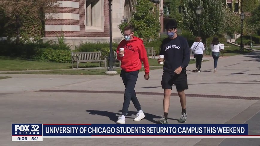 University of Chicago students return back to campus
