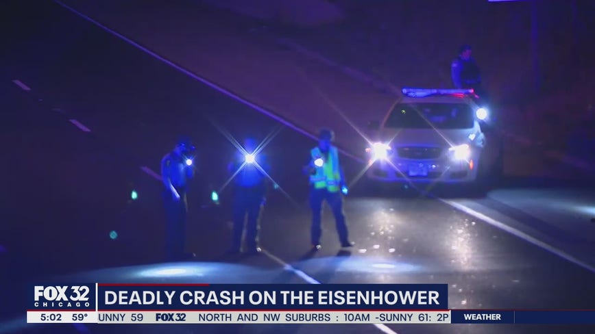 Lanes reopen after person fatally struck by vehicle on Eisenhower Expressway