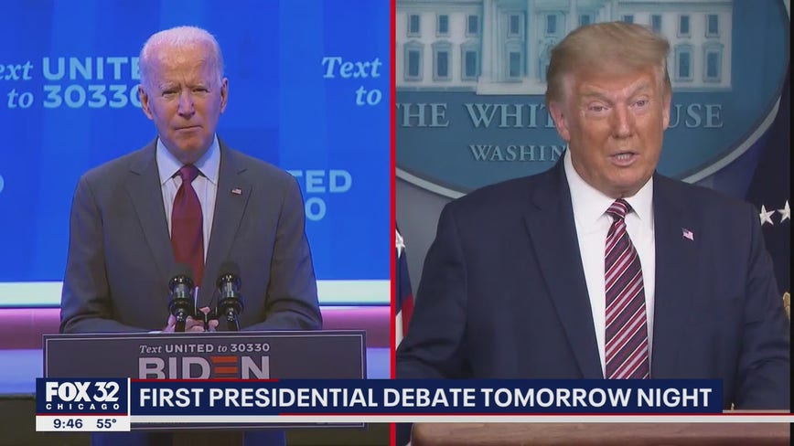 President Trump, Joe Biden prepare to debate at a time of mounting crises