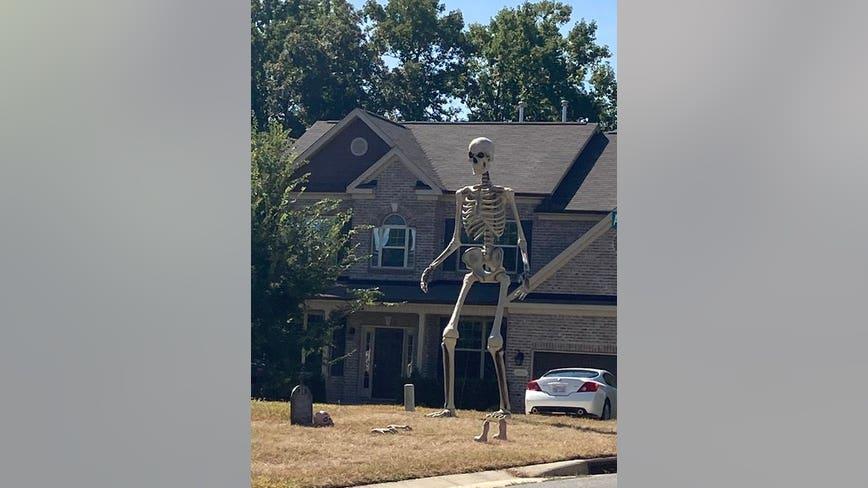 Home Depot selling giant Halloween skeleton: 'I love him'