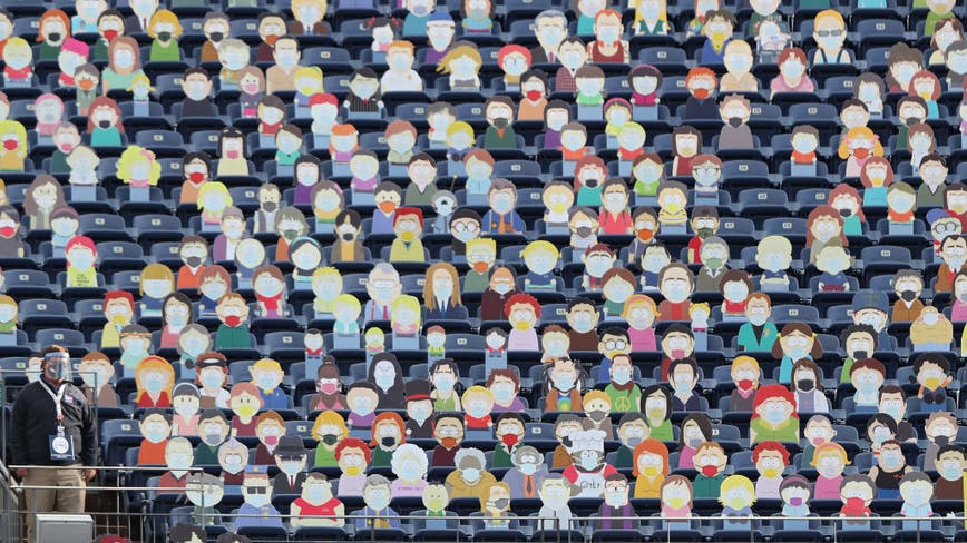 Broncos fill seats with 'South Park' cardboard cutouts
