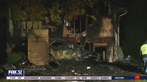 Out-of-control car crashes into Tinley Park home, starts fire