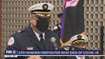 Badge of first Chicago firefighter to die from COVID-19 memorialized