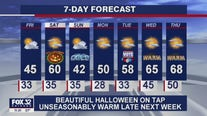 11 p.m. forecast for Chicagoland on October 29th