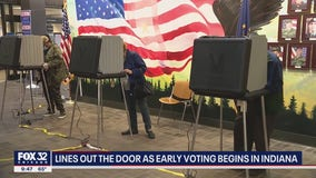 Lines out the door on first day of early voting in Indiana