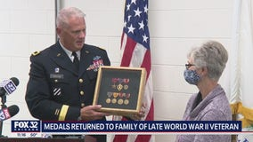 Medals of WWII veteran returned to his Illinois family after decades in Texas