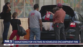 Chicago community steps up to help homeless families displaced by fire