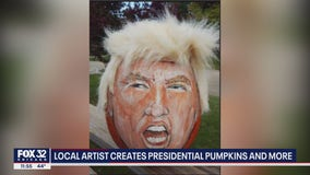 Local man went viral after creating presidential pumpkins