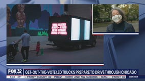YOU BE MY ALLY get-out-the-vote trucks prepare to drive through Chicago