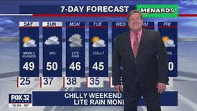 11 p.m. forecast for Chicagoland on Oct. 23