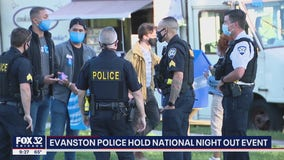 Evanston police host 'National Night Out' event amid pandemic