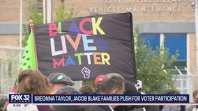 Hundreds show up to support Taylor and Blake families, push for voter turnout