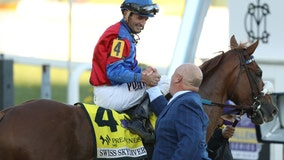 Swiss Skydiver beats Authentic at the Preakness Stakes