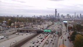 1 hospitalized after Dan Ryan crash at 35th Street