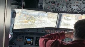 United flight lands safely at O'Hare after hailstorm cracks windshield
