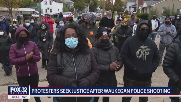 Hundreds march in Waukegan after police shoot and kill unarmed Black man