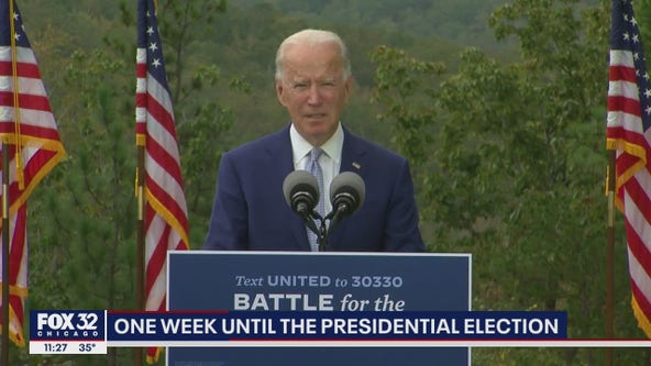 Biden vows to unify and save country as Trump hits Midwest
