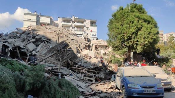 Earthquake in Aegean Sea topples buildings in Turkey