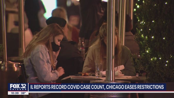 Illinois reports record COVID-19 case count, Chicago eases some restrictions