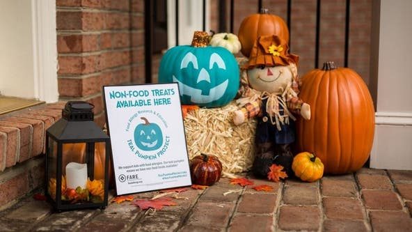 Teal Pumpkin Project promotes safe Halloween for kids with food allergies