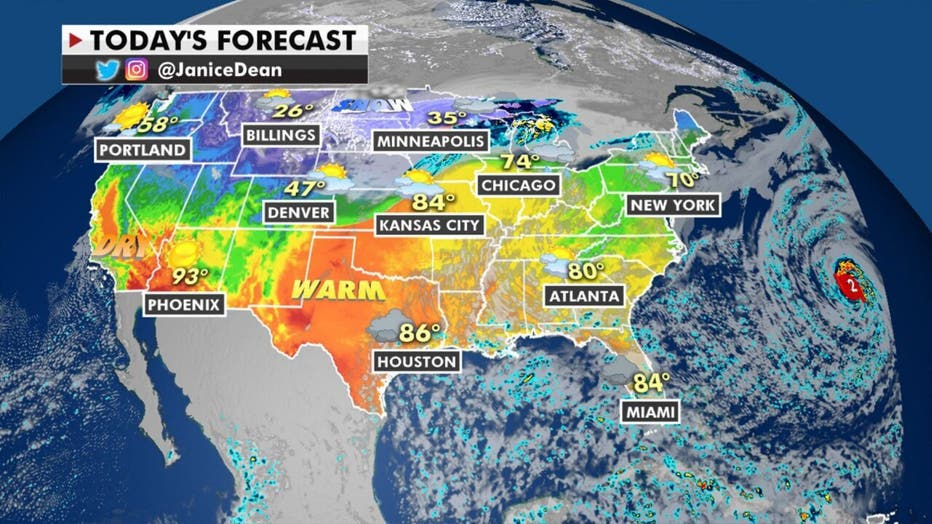 National forecast for Thursday