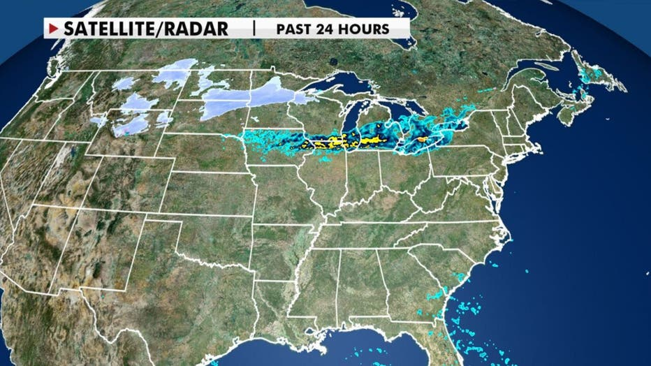 Satellite and radar for the past 24 hours