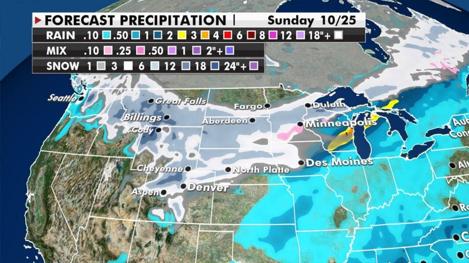 Snow forecast through Sunday