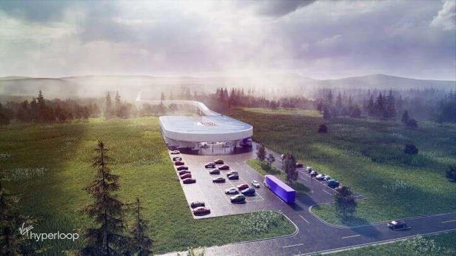 Rendering of Virgin Hyperloop test center