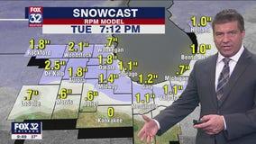 10 p.m. forecast for Chicagoland on Nov. 23