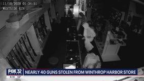 Burglars steal 39 firearms from north suburban gun shop